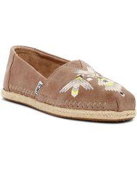 TOMS - Alpargata Embroidered Slip-on Shoe - Lyst
