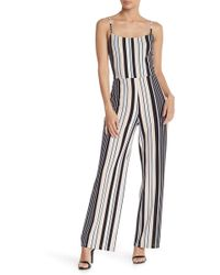 03c76a8ce742 Material Girl - Colorblock Stripe Sleeveless Jumpsuit - Lyst
