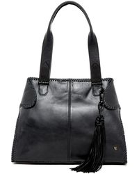 Elliott Lucca - Gisele Leather And Suede Satchel - Lyst