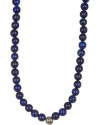 Link Up - Lapis Beaded Necklace - Lyst