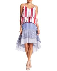 Do+Be Collection - Striped Layered Hi-lo Skirt - Lyst