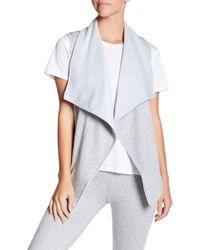 UGG - Roz Faux Fur Lined Asymmetrical Drape Vest - Lyst