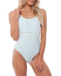 Rhythm - Summer Stripe One-piece Swimsuit - Lyst