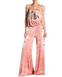 Young Fabulous & Broke - Sydney Strapless Tie-dye Jumpsuit - Lyst