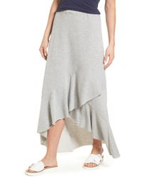 Caslon - (r) High/low Cotton Blend Utility Skirt (regular & Petite) - Lyst