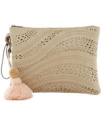 T-Shirt & Jeans - Pom Pom Perforated Pouch - Lyst