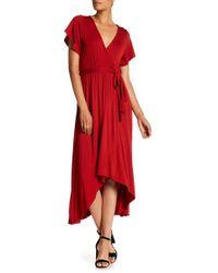 West Kei - Hi-lo Knit Wrap Dress - Lyst