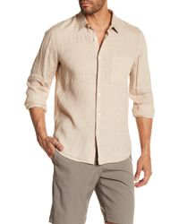 Theory | Long Sleeve Trim Fit Linen Shirt | Lyst