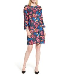 Halogen - (r) Ruched Sleeve Swing Dress (regular & Petite) - Lyst