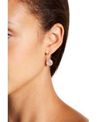 Nadri - Sterling Silver Mother Of Pearl Crescent Moon Drop Earrings - Lyst