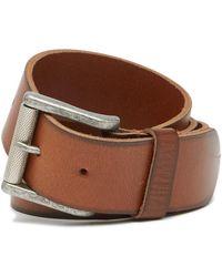 1901 - Burnished Edge Leather Belt - Lyst