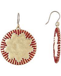 Lucky Brand - Threaded Drop Earrings - Lyst