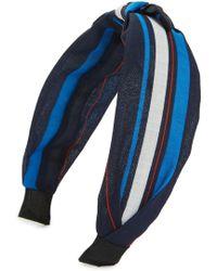 Cara - Regatta Stripe Knot Headband - Lyst