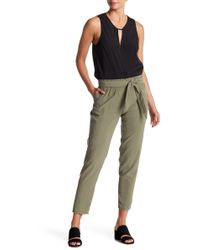 BCBGeneration - Belted Paperbag Waist Pants - Lyst