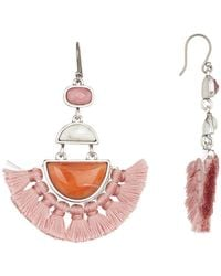 Lucky Brand - Drop Fan Fringe Earrings - Lyst