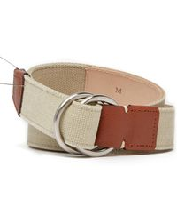 Peter Millar - Seaside Canvas & Leather O-ring Belt - Lyst