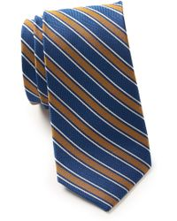 Ben Sherman Maurice Stripe Silk Tie - Blue