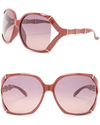 52185881a32 Lyst - Gucci 50mm Rounded Cat Eye Optical Frames in Pink