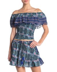 202a9b8cfb7a82 Ted Baker. Raga - Poetic Dreams Smocked Off-the-shoulder Top - Lyst