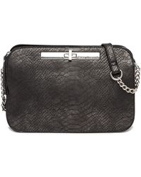 Enzo Angiolini - Turn Lock Snake Embossed Crossbody Bag - Lyst