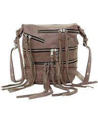 Ash | Babe Leather Multi Zip Tassel Crossbody | Lyst