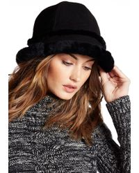UGG - City Bucket Genuine Dyed Shearling Trim Hat - Lyst