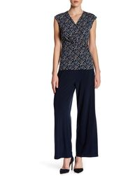 Chaus - Solid Wide Leg Pant - Lyst
