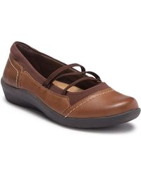 Earth - Leslie Leather Flat - Lyst