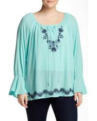 Halo - Embroidered Blouse (plus Size) - Lyst
