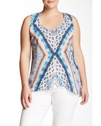 Halo - Printed Woven Tank (plus Size) - Lyst