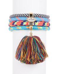 Rebecca Minkoff - Climbing Rope Tassel Bracelet - Lyst