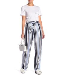 English Factory - Front Tie Striped Pants - Lyst