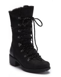 Merrell - Chateau Tall Faux Fur Trimmed Lace-up Waterproof Boot - Lyst