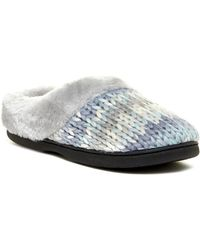 Dearfoams - Chunky Faux Fur Trim Space Clog - Lyst