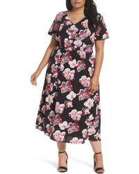 Sejour - Cold Shoulder Flared Dress (plus Size) - Lyst