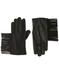 Maison Scotch - Fringe Thinsulate(r) Insulated Leather Gloves - Lyst