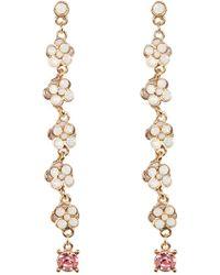 Cara - Rhinestone Cluster Drop Earrings - Lyst
