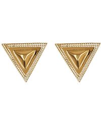Anna Beck - 18k Gold Plated Sterling Silver Faceted Triangle Stud Earrings - Lyst