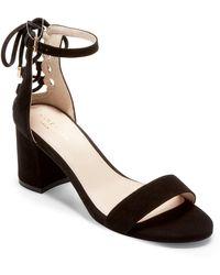 Cole Haan - Leah Suede Block Heel Sandal - Lyst