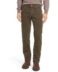 Bugatchi - Slim Fit Corduroy Trousers - Lyst