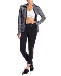 New Balance - Cropped Tights With Mesh Panelling - Lyst