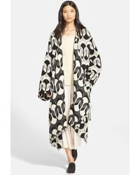 Tracy Reese - Jacquard Wool Blend Blanket Coat - Lyst