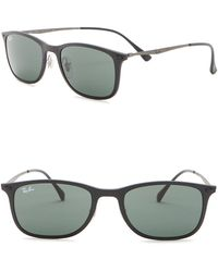 fec9f7b071 Ray-Ban - Lightray 52mm Rectangular Sunglasses - Lyst
