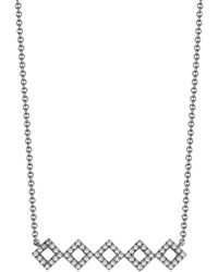Dana Rebecca - 14k Black Rhodium Diamond Accented Lisa Michelle Bar Necklace - 0.22 Ctw - Lyst