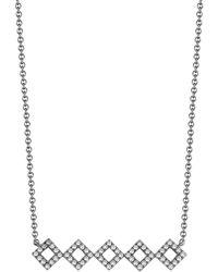 Dana Rebecca - 14k Black Rhodium Diamond Accented Lisa Michelle Bar Necklace - 0.22 Ctw - Lyst