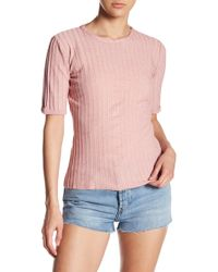 Sincerely Jules - Dakota Ribbed Knit Tee - Lyst