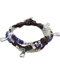 Uno De 50 - Lollapalooza Beaded & Dangle Charm Layered Leather Bracelet - Lyst