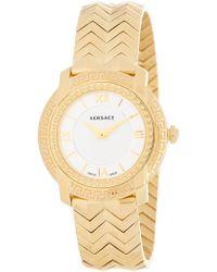 Versace - Women's Dv-35 Swiss Quartz Bracelet Watch, 36mm - Lyst