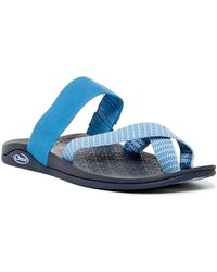 e692b526acb Lyst - Chaco Tetra Cloud Slide Sandal in Blue