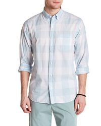 Bonobos - Long Sleeve Chequered Standard Fit Woven Shirt - Lyst